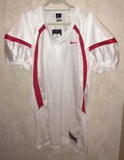NEW Mens Sz XL 2XL NIKE Crack Back Game Mesh White Red Football Jersey Practice