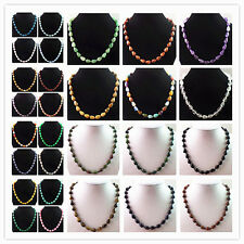 GN2 Strand of Mixed Gemstone Teardrop Beads Necklace 17.5 inch