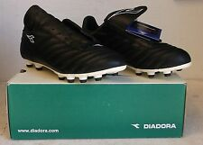 Diadora - Roma MD PU Soccer Cleat, Black and White