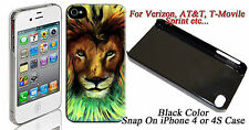 Rasta Lion Image Design iphone4 / 4s Snap On Case #ip4-285