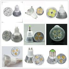 10pcs Dimmable E27 E14 GU10 MR16 B22 E12 E26 LED Lamp Bulb Spot Light 9W 12W 15W