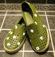 NWOB NATIVE Miller Adult Shoes Unisex Sz M9/W11 Polka Dot RARE Green or Yellow