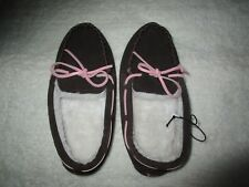 Ladies Peter Alexander brown Moccasin leather slippers Size 6 7 8 9 & 10   BNWT