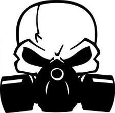 Skull Gas Mask Decal Sticker JDM Laptop Chevy Dodge Ford 10 COLORS