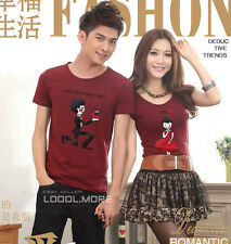 NEW Will you marry me ? Yes! Couple Lovers Tee T-Shirt  Lycra Cotton YA6223