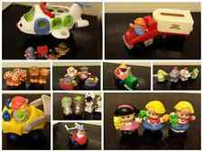 fisher price little people zebra giraffe rhino lion lioness peacock parrots noah