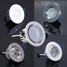 White/Silver 3W LED Down light Ceiling Recessed lamp Bulb Dimmable/NO + Driver