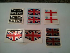 UNION JACK ENGLAND 3 LIONS GB CAR BADGE BADGES PAIR RESIN WEATHERPROOF