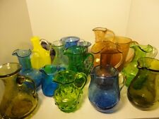 Studio Art Glass Miniature Pitchers Bottles Vases Murano Fenton Pilgrim Blenko++