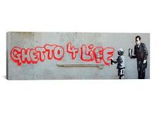 Ghetto 4 Life By Banksy Canvas Print #BNK18