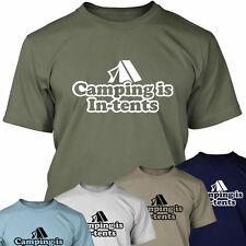 CAMPING IS IN TENTS Funny Mens T Shirt For Camping Holiday Or Music Festival