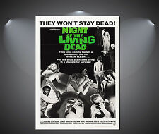 Night Of The Living Dead Vintage Movie Poster - A1, A2, A3, A4 available