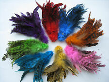 """50 Rooster Saddle Hackle Grizzly Schlappen Feathers For Fly Tying --5-7"""" -In USA"""