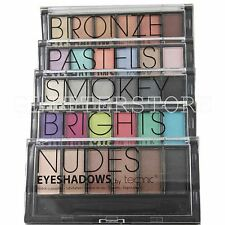 SET 6 TECHNIC EYESHADOW PALLETE ALL COLOURS BRIGHT, NUDE, SMOKEY