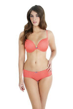 New Panache Lingerie Cleo Neve Moulded Padded Plunge T-Shirt Bra 7196 Coral