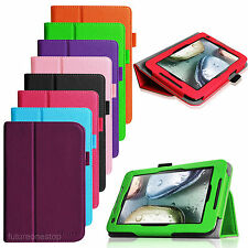 "Folio Leather Stand Case Cover for Lenovo IdeaTab A1000/A1000L 7"" Android Tablet"