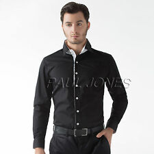 Korean Men's Fashion Slim Fit T- Shirts Long Sleeve Casual Shirts Top Blouse New