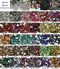 Wholesale 2mm 14 Facets Gava Resin Flat back Rhinestones 35 Colors Crystal