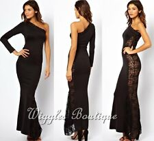 NEW - TFNC Maxi Dress With Lace Side - UK 6-8