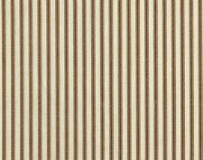 "2 Tab Top 84"" Curtain Panels French Country Ticking Stripe Suede Brown"
