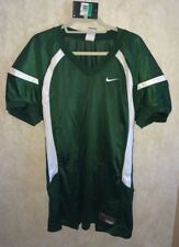 NEW Mens L XL NIKE Crack Back Game Mesh Dk Green White Football Jersey Practice