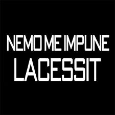 NEMO ME IMPUNE LACESSIT (scotland order of the thistle ultras knight) T-SHIRT