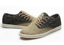 British style men's fashion retro side lace cloth shoes casual board shoes c1216
