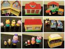 peppa pig sets, peppa pig house, firestation, museum van, peppa george candy