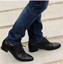 Korean men's fashion lace pointed toe business shoes PU heel casual shoes c1220