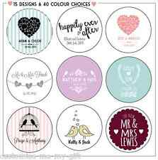 Personalised Wedding Sticker Labels | Mr & Mrs | Choice Size Colour & Design