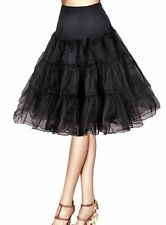 "26"" 50s Retro Underskirt Swing Vintage Petticoat Fancy Net Skirt Rockabilly Tutu"