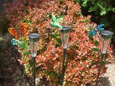 Solar Power Color Changing Butterfly Dragonfly Hummingbird Garden Stake NEW!