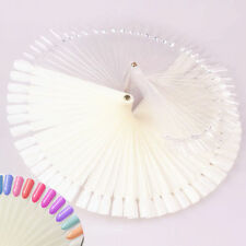 50 False Display Nail Art Fan Wheel Polish Practice Tip Sticks
