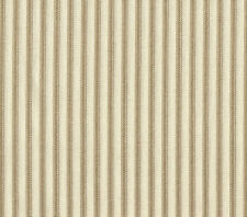 "2 Tab Top 84"" Curtain Panels French Country Ticking Stripe Linen Beige"