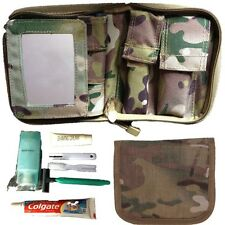 BRITISH ARMY CADET COMPLETE WASH KIT MIRROR SHAVING TOOTBRUSH MTP FIELDCRAFT