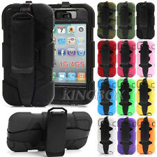 Military Rugged High Impact Heavy Duty Case + Belt Clip For iPhone 4 4S 5 5S 5C
