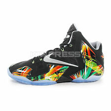 Nike Lebron XI [616175-006] Basketball Everglades Black/Silver-Mint