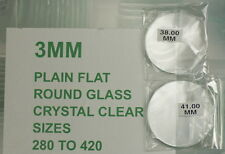 3mm extra thick watch crystals mineral glass 28mm - 42mm flat glasses crystal