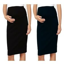 Maternity Jegging Denim Stretch Knee Length Pencil Skirt For Expecting Mothers