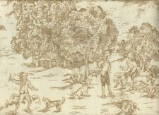 """72"""" French Country Toile Linen Beige Fabric Shower Curtain Cotton"""