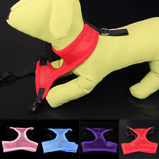 NEW Small Pet Puppy Dog COOL Adjustable Harness Collar Safety Strap Mesh Vest