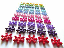 50 x 10mm Colourful Acrylic Snowflake Spacer Beads ~ Including Rainbow Mix Pack!