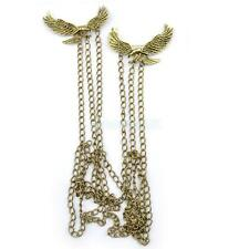 Steampunk Multi Layer Double Eagle Charm Body Chain Link Collar Brooch Necklace