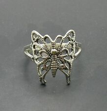 R000795 STERLING SILVER RING SOLID 925 BUTTERFLY