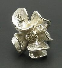 R000677 STYLISH STERLING SILVER RING SOLID 925 FLOWER