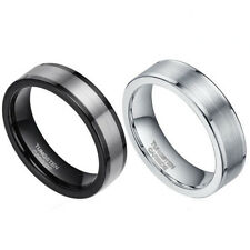 6mm Tungsten Carbide Ring Pipe Cut Comfort Fit  Polish  Wedding Band Unisex