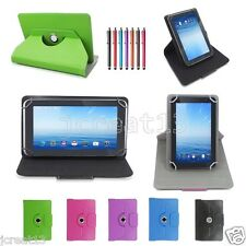 "Slim Rotating Leather Case For 7"" Hipstreet Titan 2/Titan +/Aurora 2 Tablet TY1"