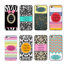 New Custom Personalized Chevron DIY Name On Hard Case For iPhone4 4s 5 5s 5c