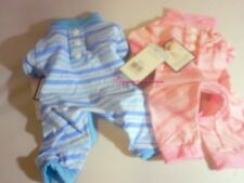 Fou Fou Dog Candy Striped Pajamas Blue or Pink XSmall Shipping NOW SALE