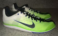 NEW Mens 8 9.5 NIKE Zoom Rival D 7 Distance Track Field Spikes Shoes Lime Green
